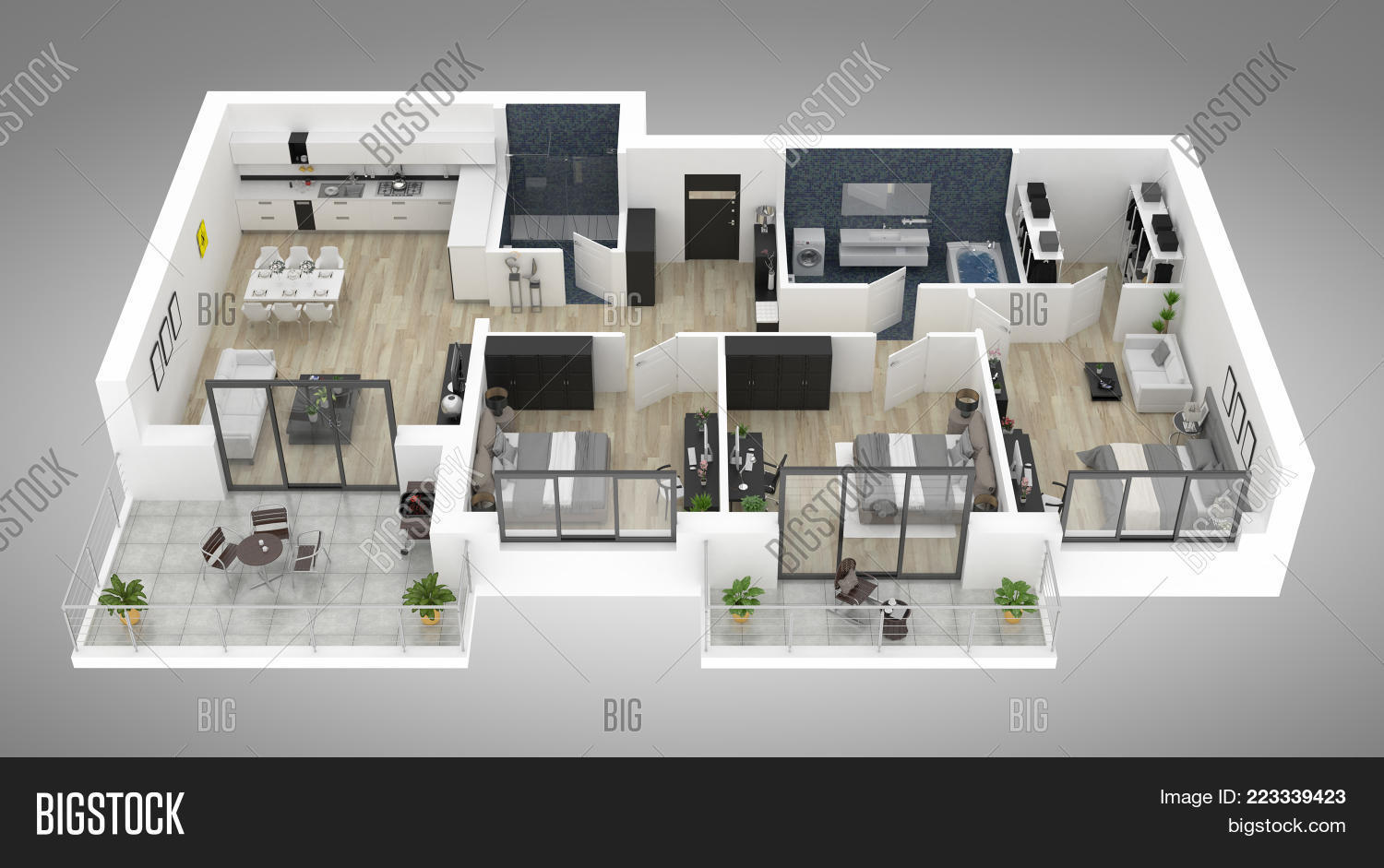 Floor Plan House Top Image Photo Free Trial Bigstock
