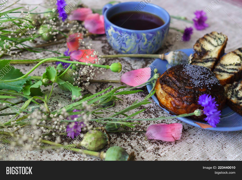 Fine Breakfast Mug Tea Fresh Image Photo Bigstock