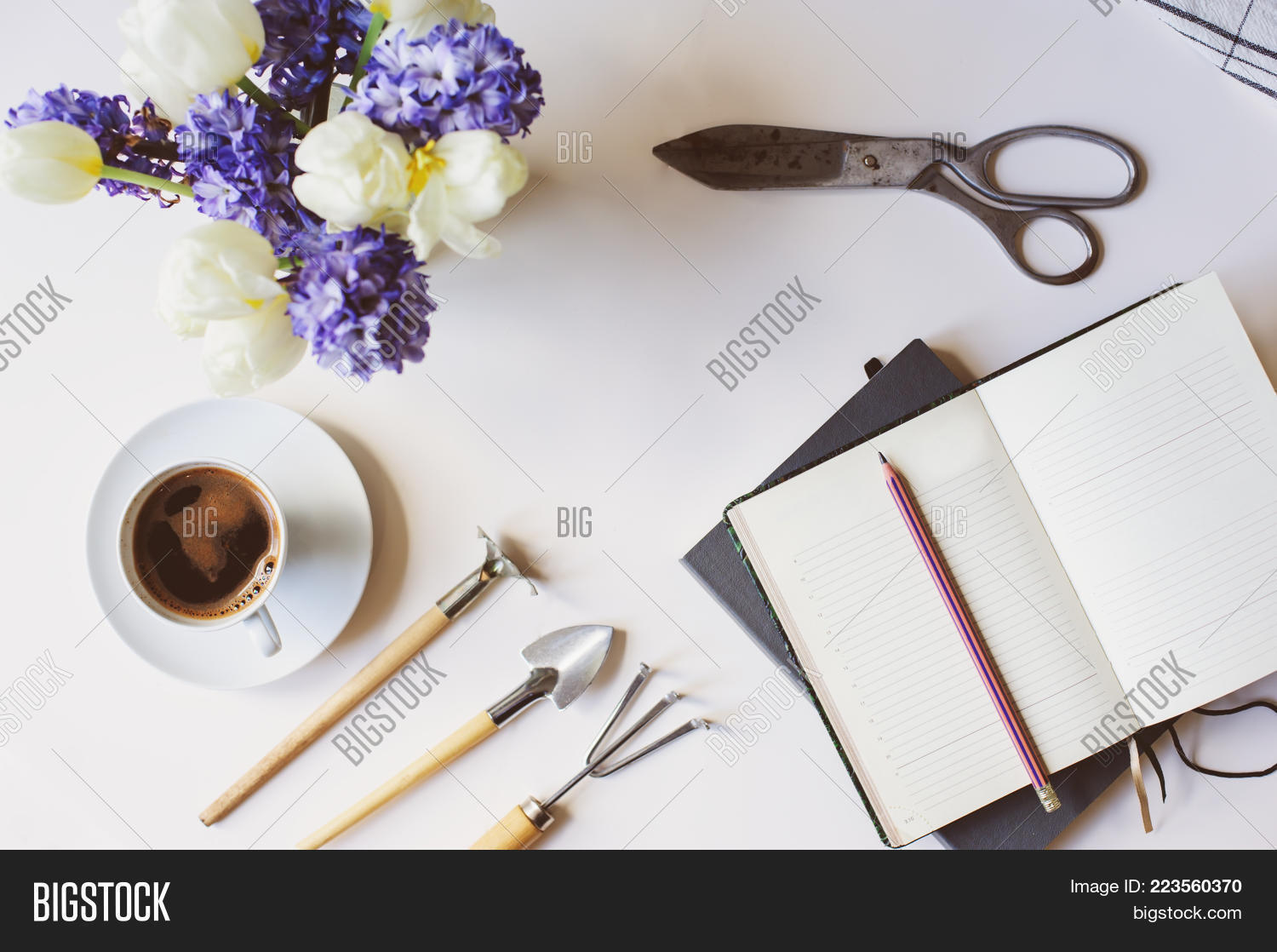 Spring gardener plan image photo free trial bigstock spring gardener plan or to do list on table with empty space on white background mightylinksfo