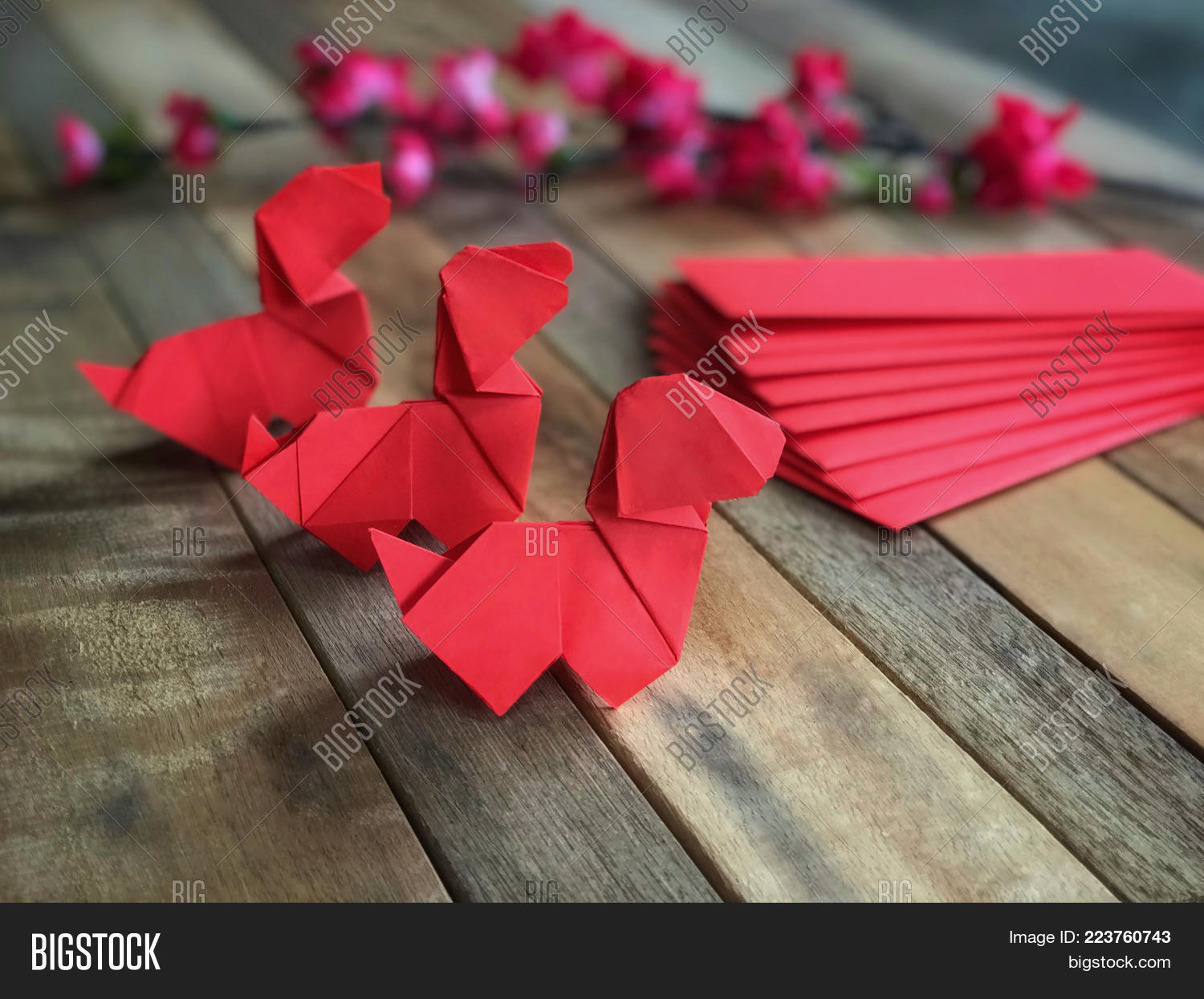 Chinese new year concept red image photo bigstock for Ang pao origami