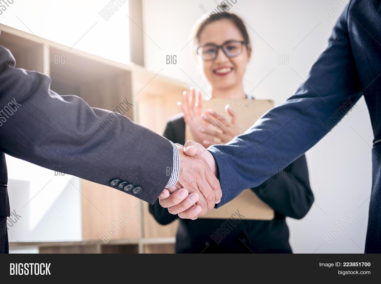 Finishing Meeting Image Photo Free Trial Bigstock