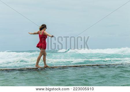 Girls Beach Holidays Tidal Pool Ocean