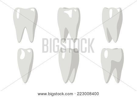 Cartoon Tooth Rotation Animation Frames 3d Stomatology Dental Poster Flat Design Isolated Template Icon Transperent Background