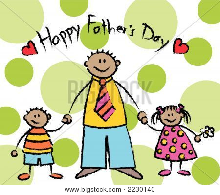 Happy Father's Day (Vector) - Tan Skin