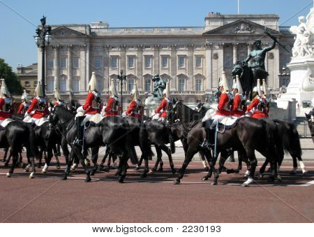 Horse Guards In Front Of Buckingham Palace