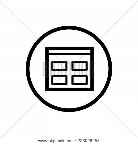 Catalogue line icon in a circle and a white background. Vector illustration