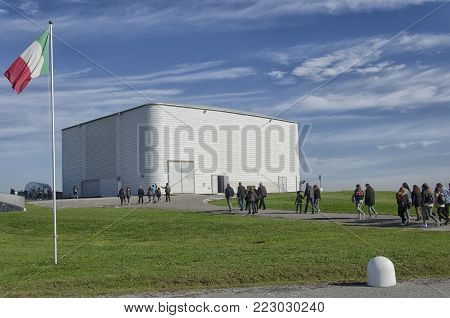 Cascina, Italy - November 11, 2017: The operations center of the Virgo interferometer