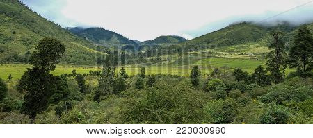 Mountain Scenery Of Thimphu, Bhutan