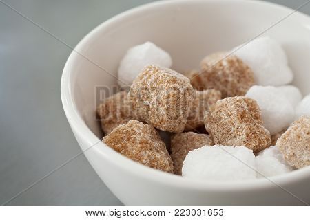 Chunky Sugar Cubes In A Bowl
