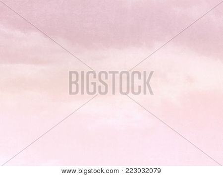 Watercolor background pink - abstract pastel sky texture with soft gradient