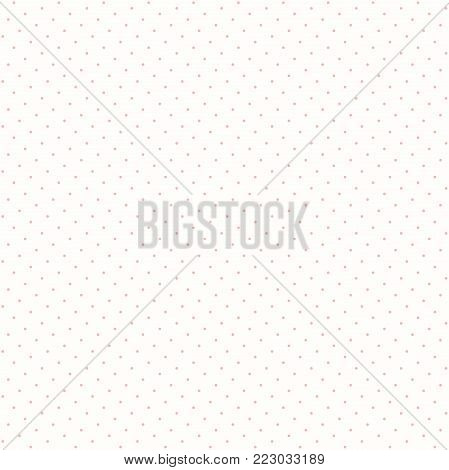 Seamless geometric pattern. Modern ornament with pink dotted elements. Geometric abstract pattern