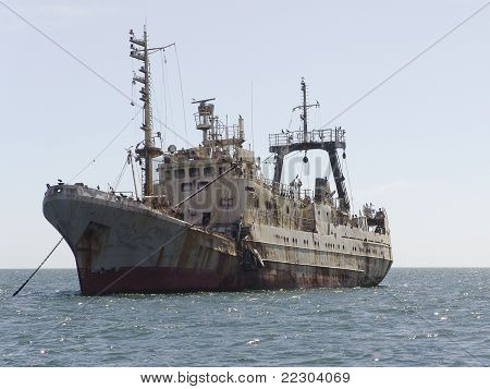 The old rusty ship