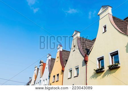 townhouses with traditional gables