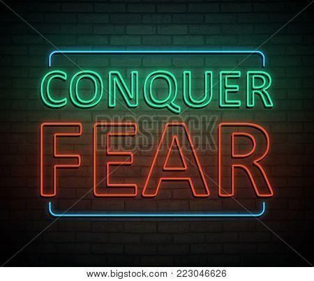 Conquer Fear Concept.