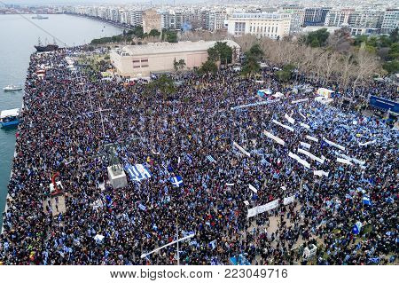 Thousands Of People Protest Against Any Greek Compromise On The Name Dispute With The Fyrom In Thess