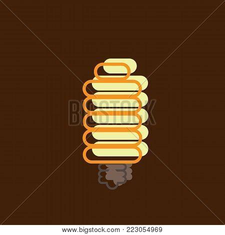 Energy saving light bulb. Flat design. Energy-saving lighting technologies