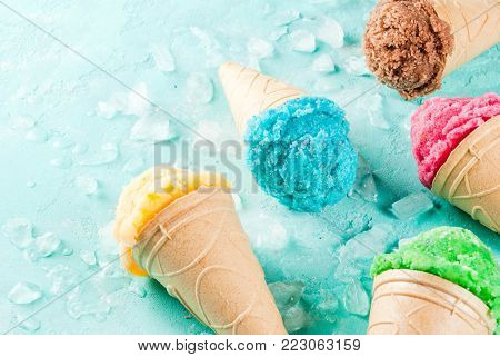 Set Of Various Bright Ice-cream
