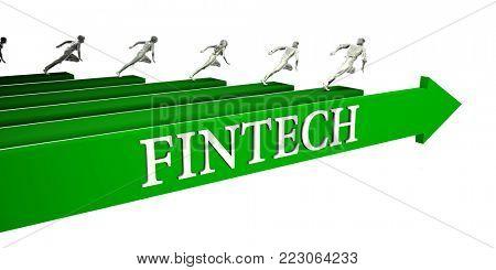 Fintech Opportunities as a Business Concept Art 3D Render