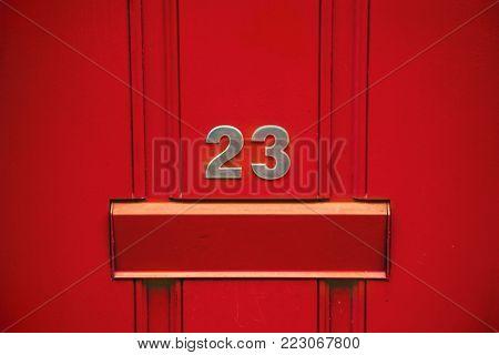 Letterbox on a door