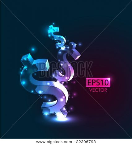 Dollar vector background