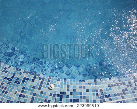Swimming pool background.