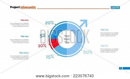 Male population slide template. Business data. Graph, diagram, design. Creative concept for infographic, report. Can be used for topics like research, information, analysis