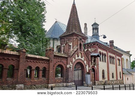 Church of the Mother of God of relentless help of the 16th century, Lvov, Ukraine. Sights of Ukraine.