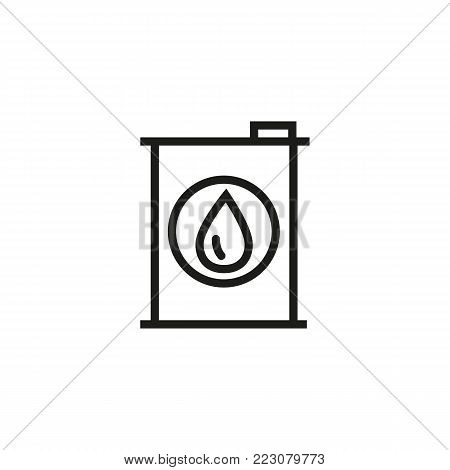 Icon of oil barrel. Fuel, drop, tank. Car service concept. Can be used for topics like automobile, car accessory, technical support.