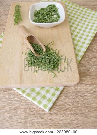 Dried common horsetail, equiseti herba, for herbal medicine