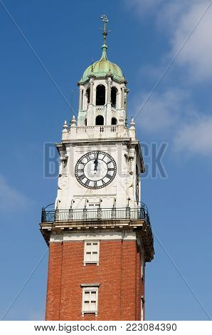 19th - century European building of downtown, Clock tower, Buenos Aires, Argentina, South America