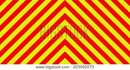 ambulance emergency sign background yellow and red stripes diagonally, ambulance emergency diagonal stripes, a warning to be traffic safety