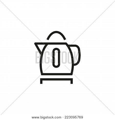 Icon of electric kettle. Boiling water, automatic, heat. Kitchen appliance concept. Can be used for topics like electricity, equipment, device