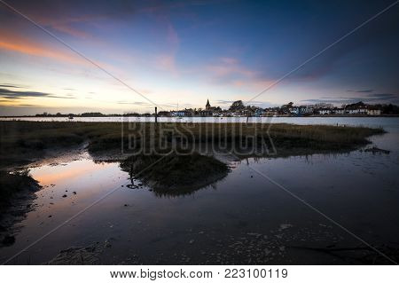 Bosham at twighlight on Sussex coast near Chichester