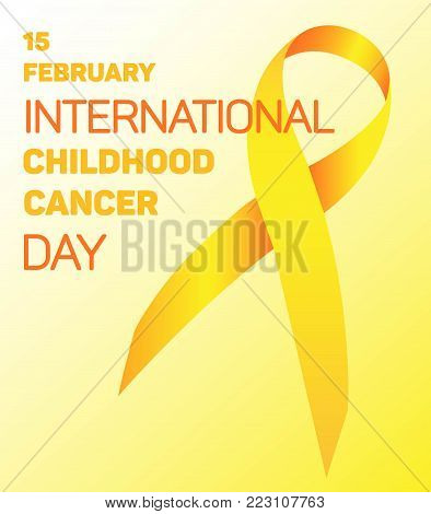 Tape for the World Children's Day cancer patients on February 15. On a gradient yellow background