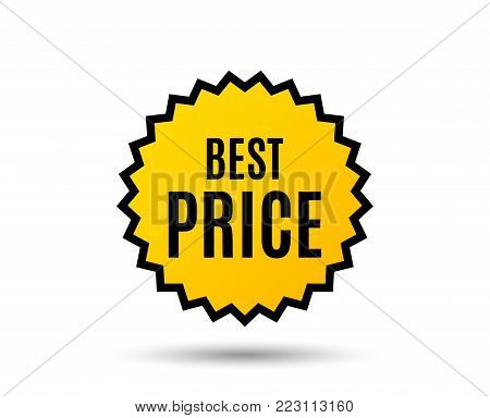 Best Price. Special offer Sale sign. Advertising Discounts symbol. Star button. Graphic design element. Vector
