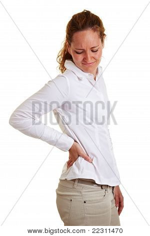 Business Woman Holding Her Aching Hip