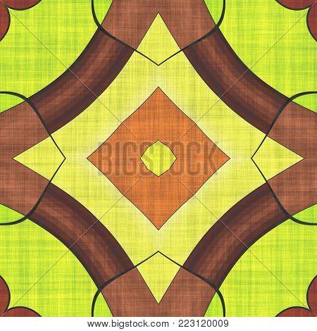 Abstract Fabric Pattern- Mosaic Illustration