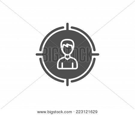 Head hunting simple icon. Business target or Employment sign. Quality design elements. Classic style. Vector