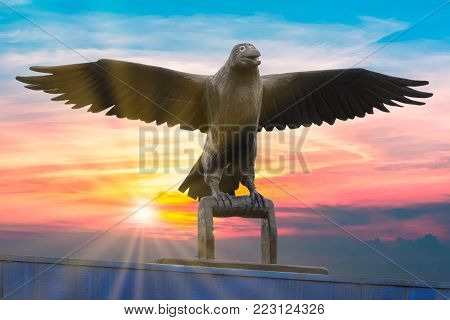 The Raven, creator of the world, Anchorage, Alaska