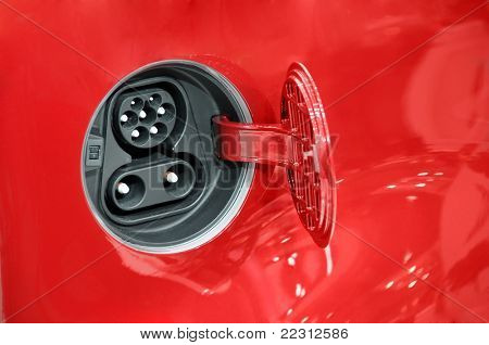 Electric car fuel socket