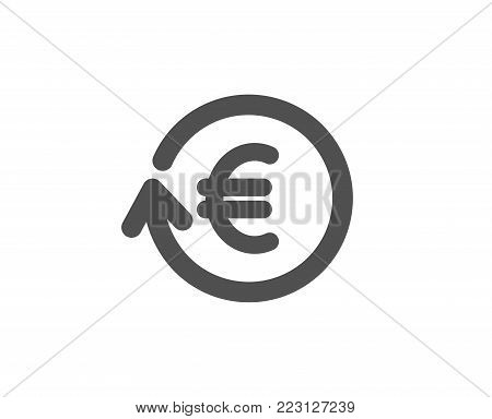 Euro Money exchange simple icon. Banking currency sign. EUR Cash symbol. Quality design elements. Classic style. Vector