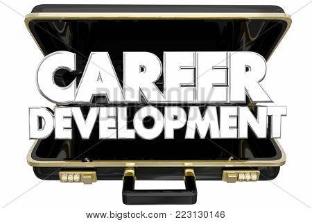 Career Development Briefcase Job Professional Advancement 3d Illustration