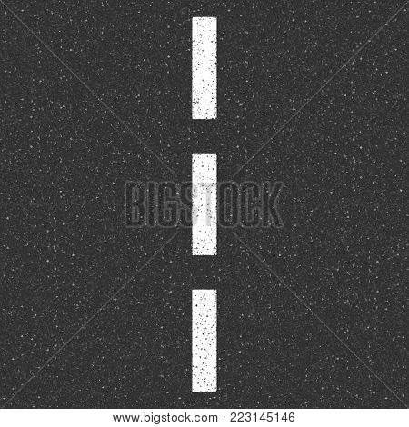 Asphalt texture with road markings. Seamless vector illustration.