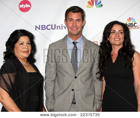 LOS ANGELES - AUG 1:  Zolia Chavez, Jeff Lewis, Jenni Pulos arriving at the NBC TCA Summer 2011 All Star Party at SLS Hotel on August 1, 2011 in Los Angeles, CA