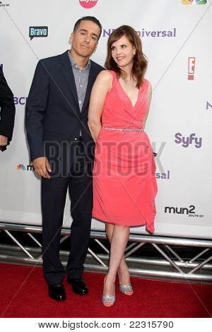 LOS ANGELES - AUG 1:  Kirk Acevedo, .Kiersten Warren arriving at the NBC TCA Summer 2011 All Star Party at SLS Hotel on August 1, 2011 in Los Angeles, CA