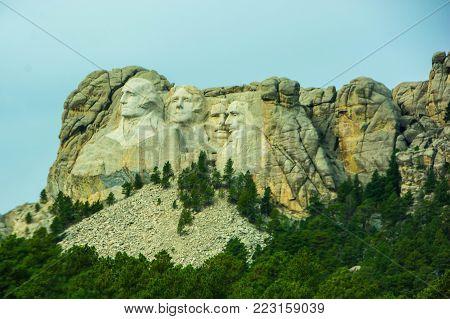 Mount Rushmore - Located in South Dakota.