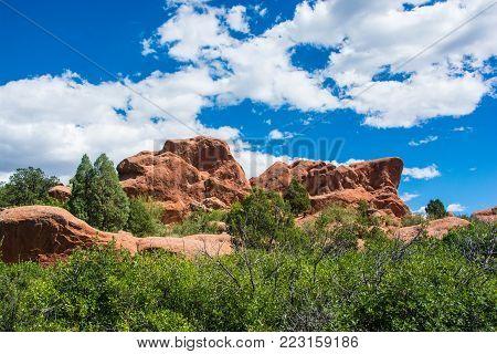 Garden of the Gods - Picturesque park in Colorado Springs, Colorado.