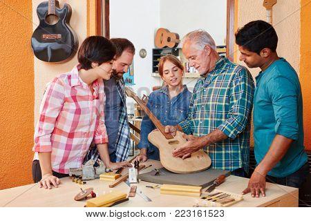 Young future artisans in craftsman's apprenticeship