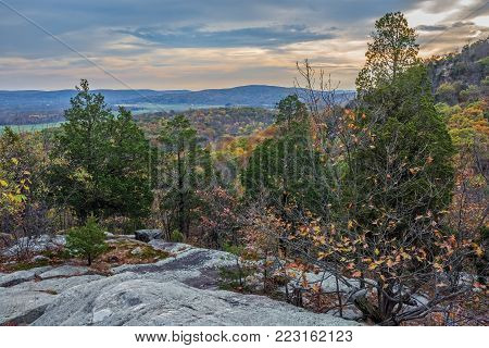 A scenic view overlooking Jenny Jump State Forest in northern New Jersey.