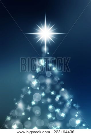 Shinny Christmas Tree, abstract  background.